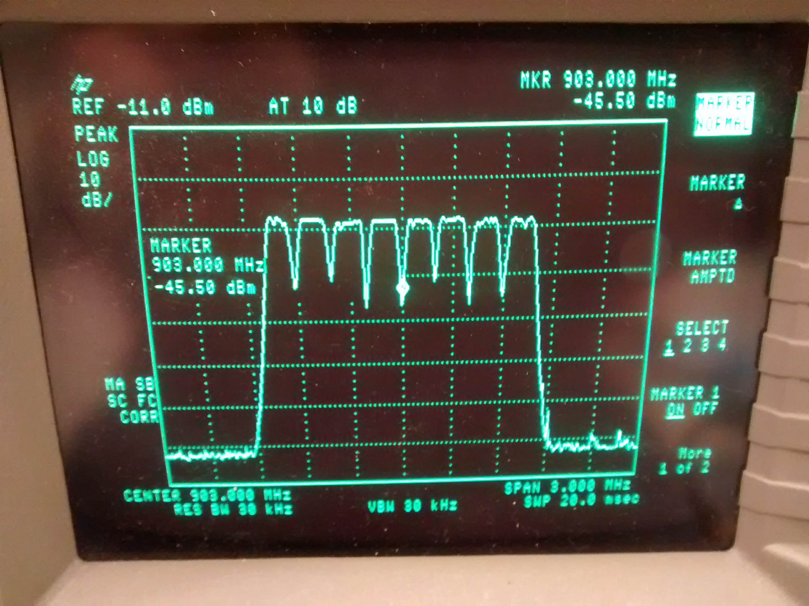 a square wave on an oscilloscope screen